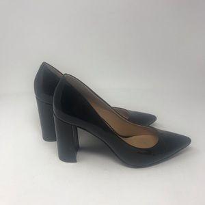 Banana Republic Pointy Toe block Heel Shiny Black